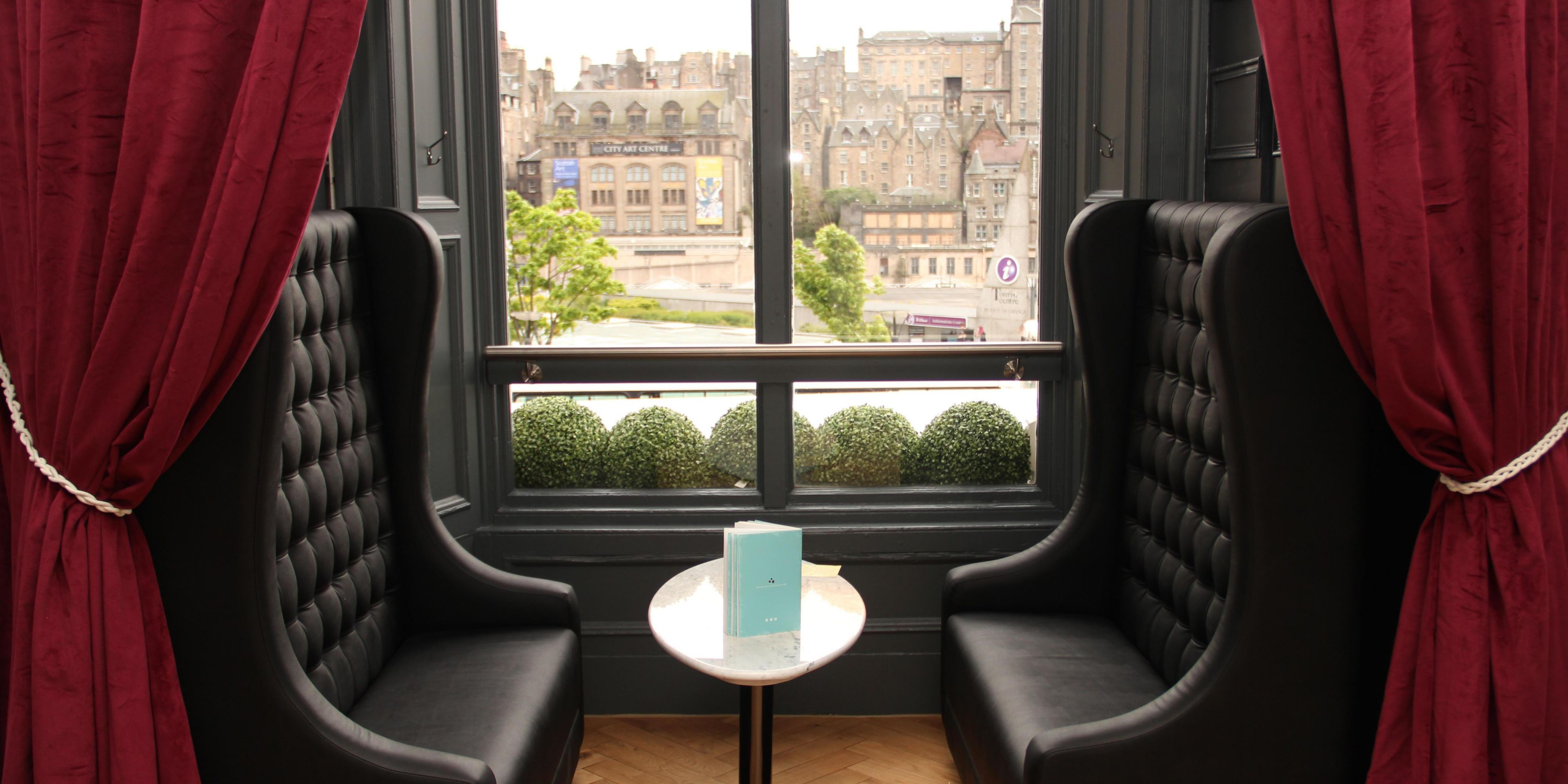Spectacular View From Hotel Indigo Edinburgh Princes Street With Hotels Near Waverley Station