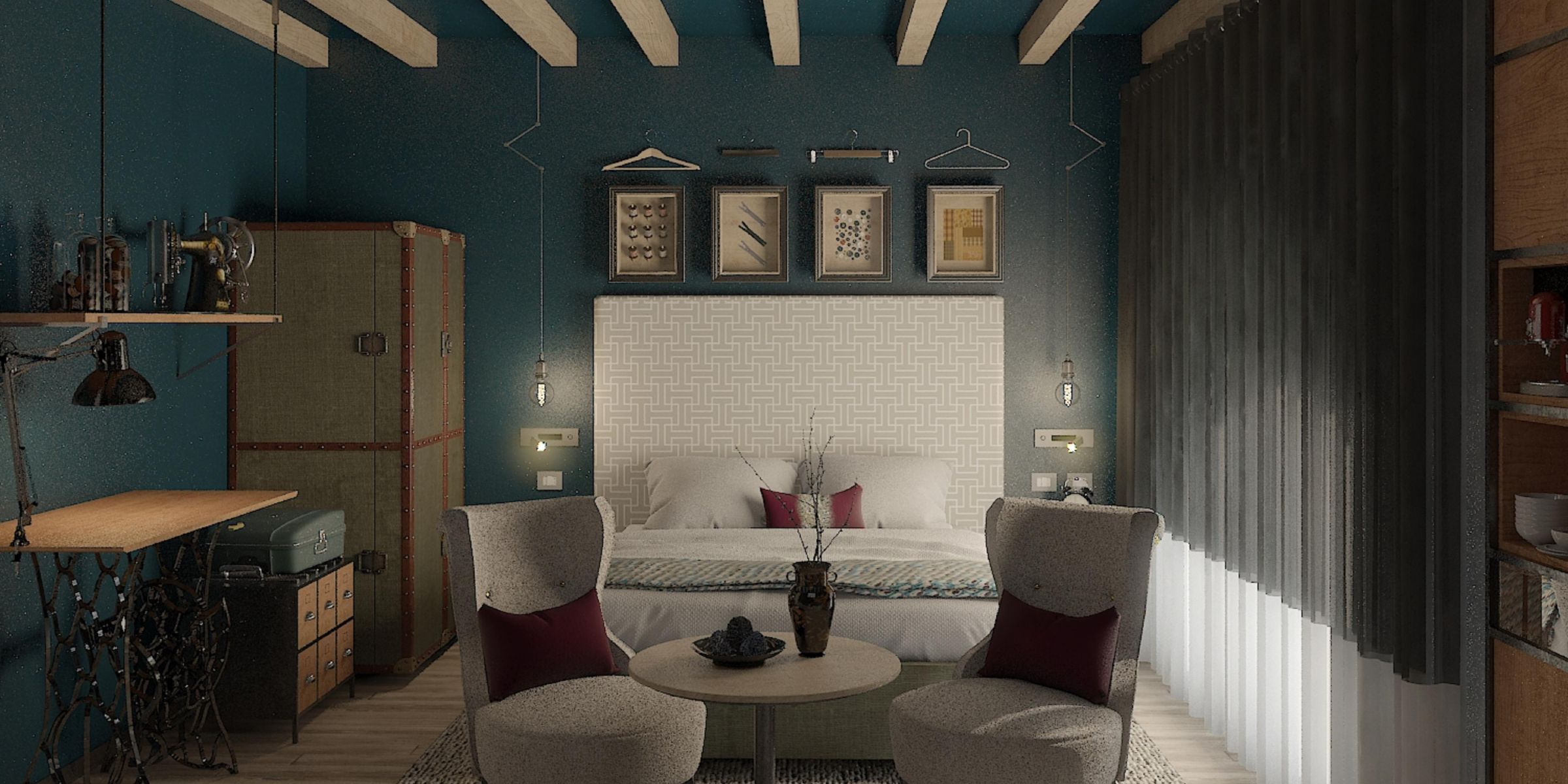 Light Bright Room With Street Views Of Milan City