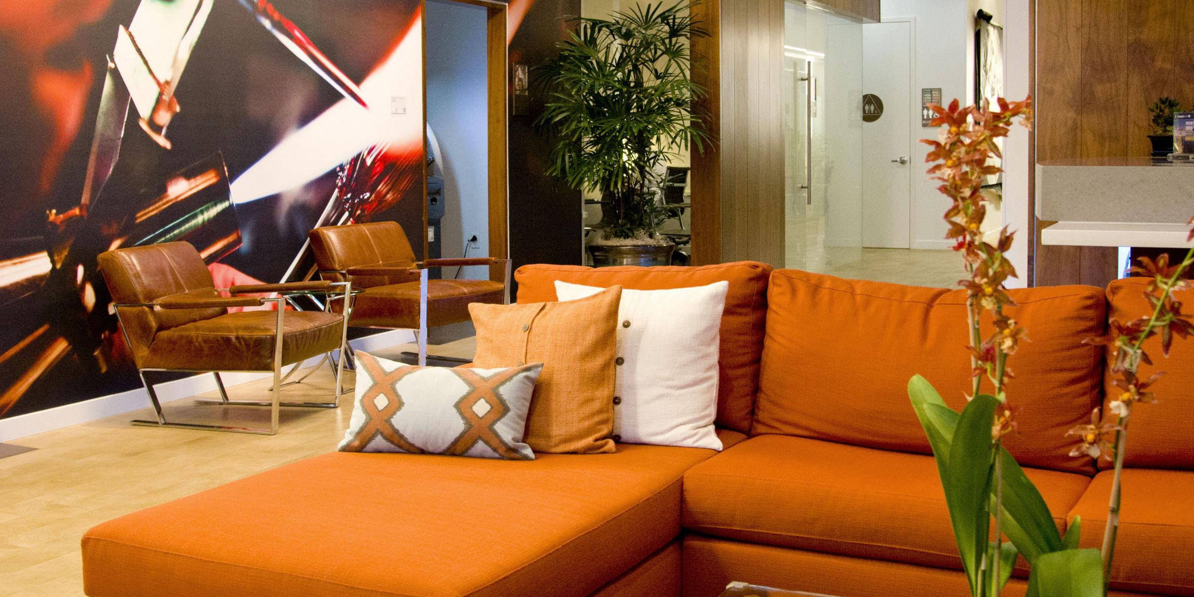 Relax In Our Comfortable And Stylish Lobby