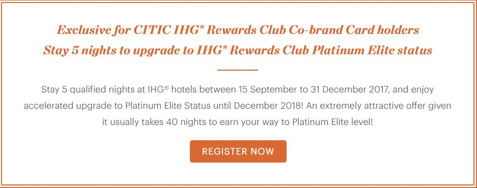 Accelerate Your Platinum Elite Status by Staying 5 Nights