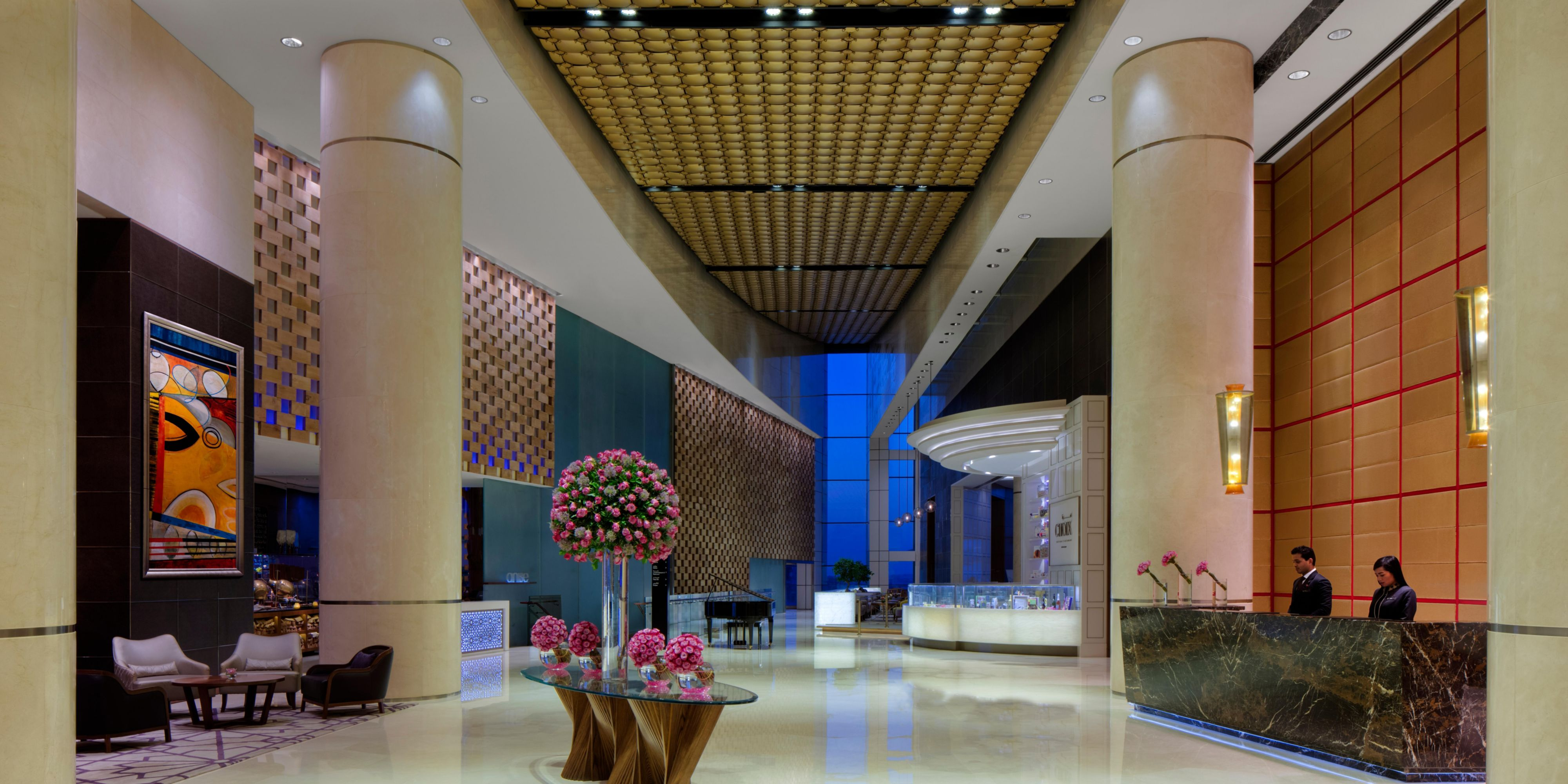 Hotel Entrance Foyer : Intercontinental dubai festival city hotel meeting rooms