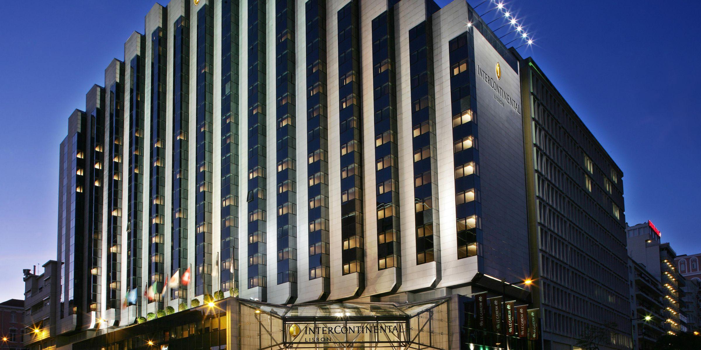 Hotel Facade Rising Above The City
