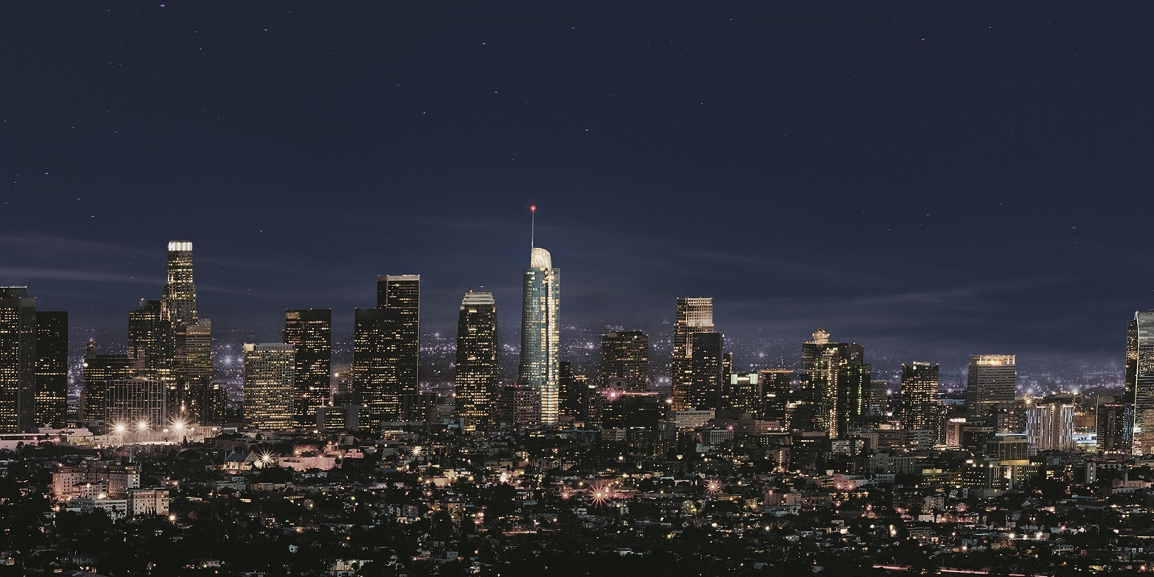 ... InterContinental Los Angeles Downtown   Evening Skyline ...