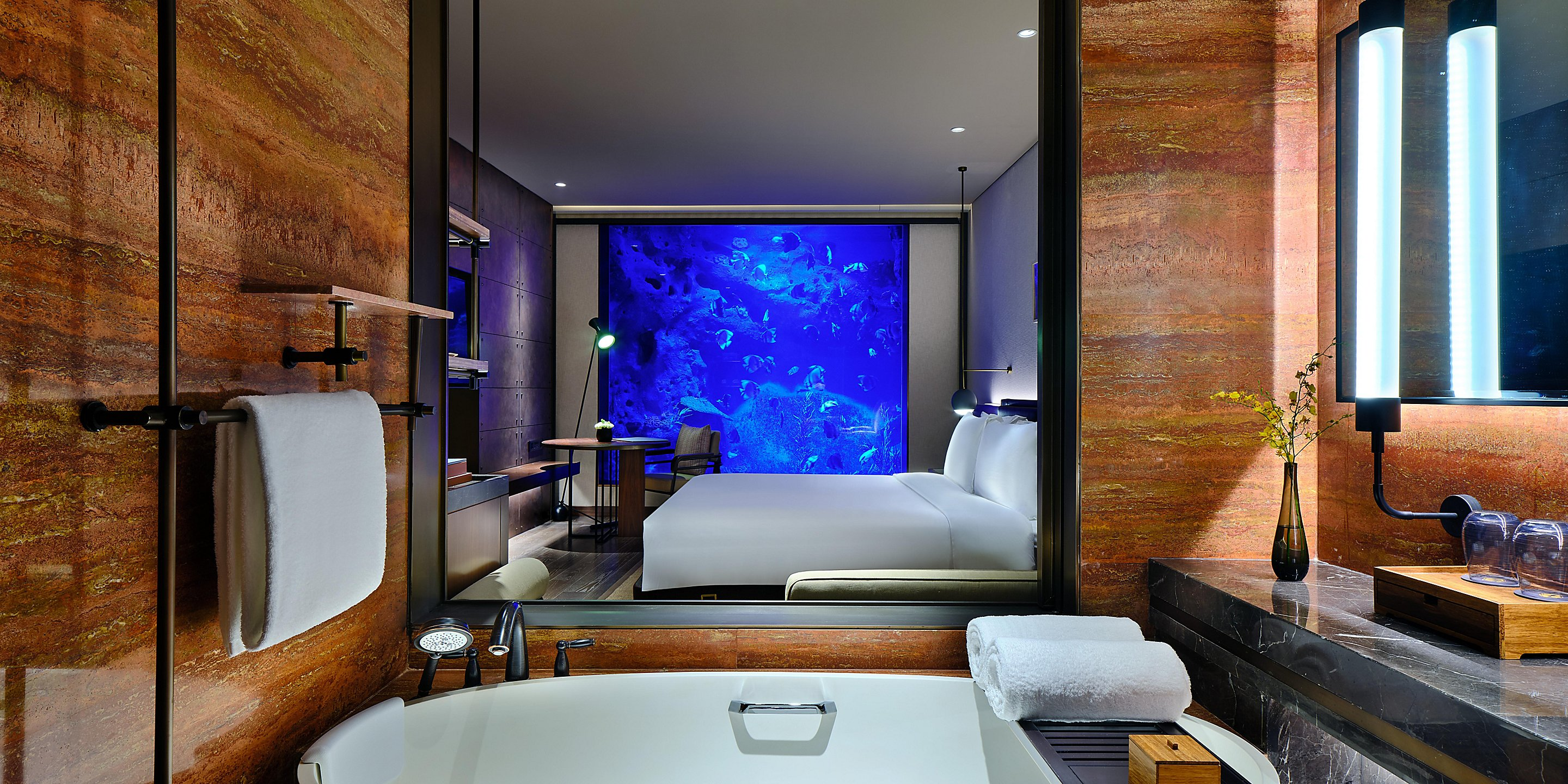InterContinental Shanghai Wonderland Underwater Hotel Room