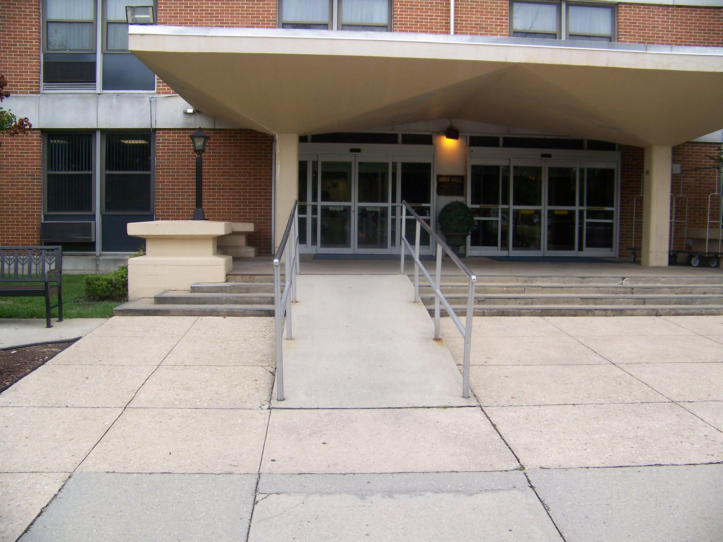 Wheelchair Accessible Ramp to Moon Hall