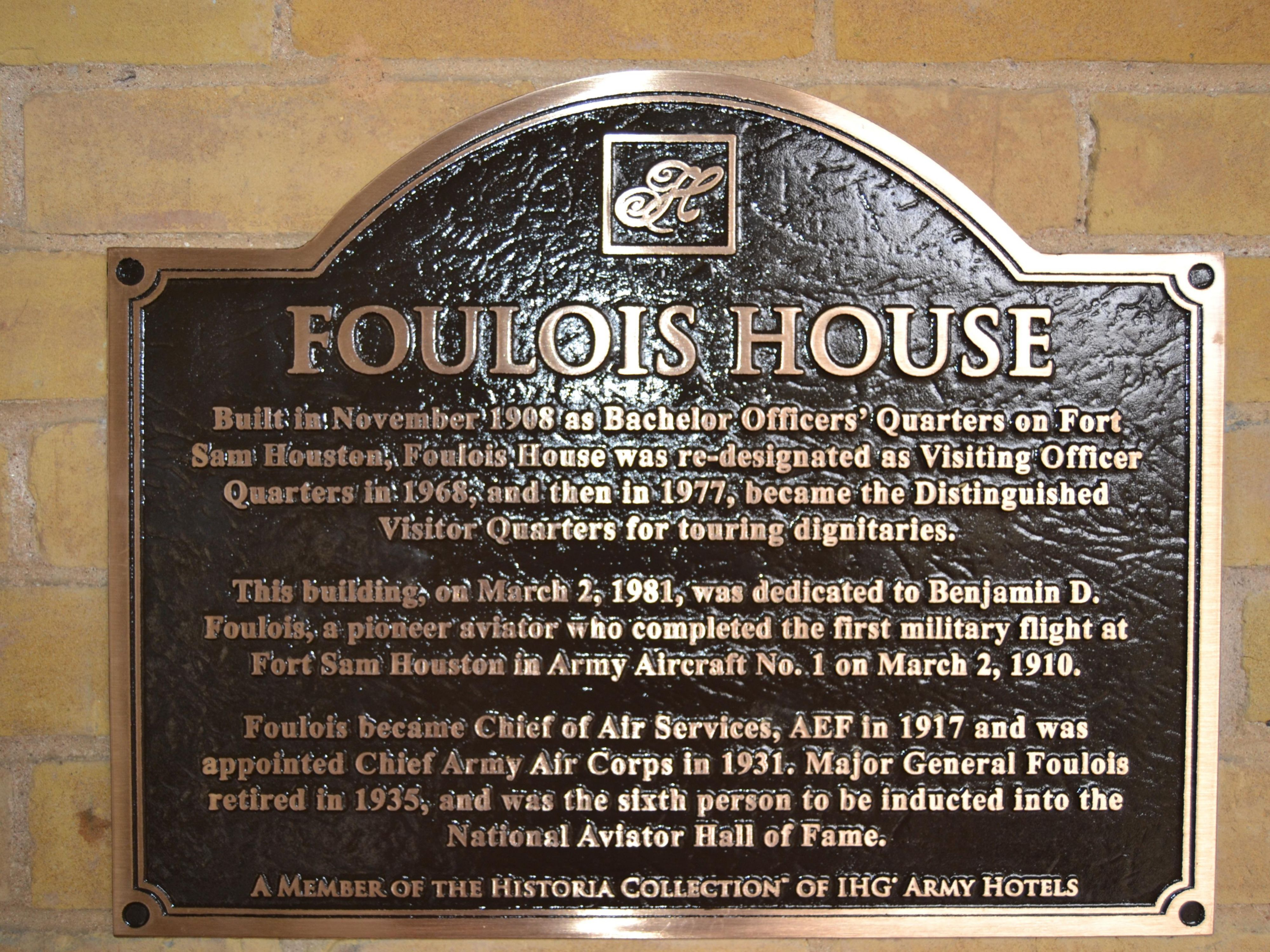 Foulois House History