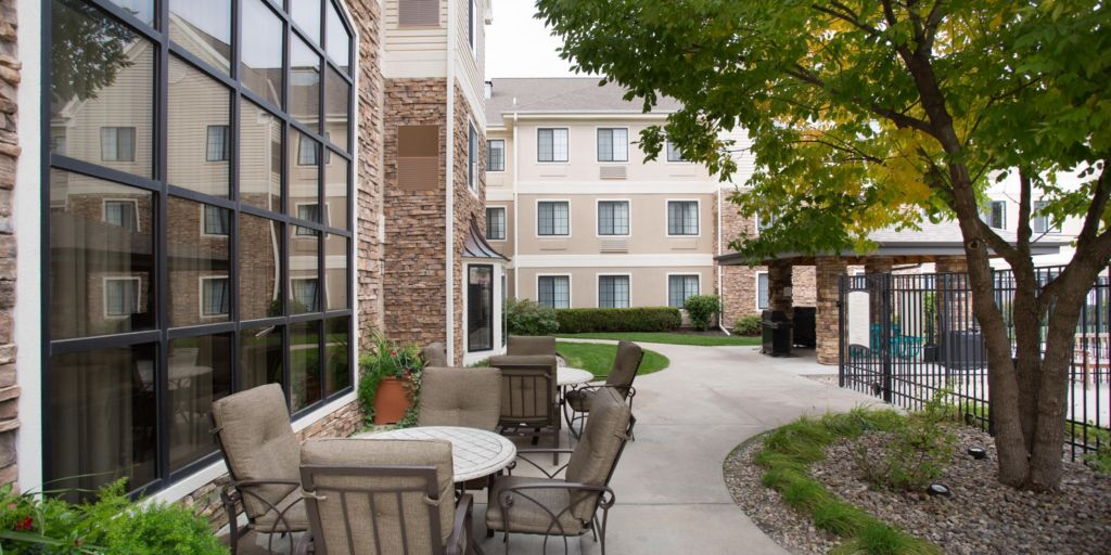 Our Outdoor Landscaped Courtyard Is A Great Place To Relax