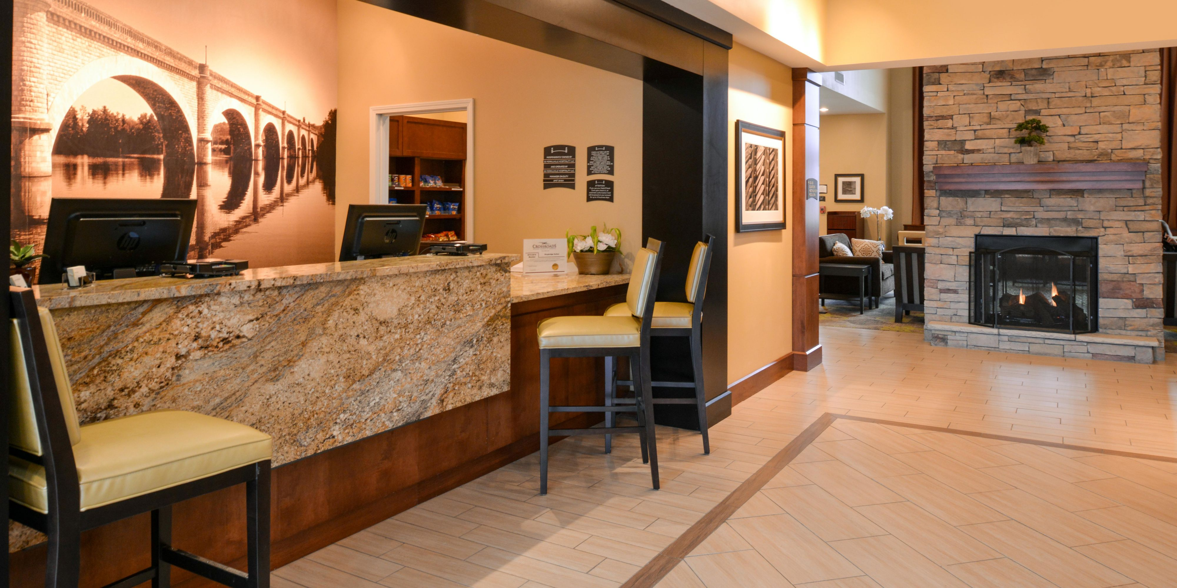 Hotel Exterior Staybridge Merrillville Grand Entrance Lobby