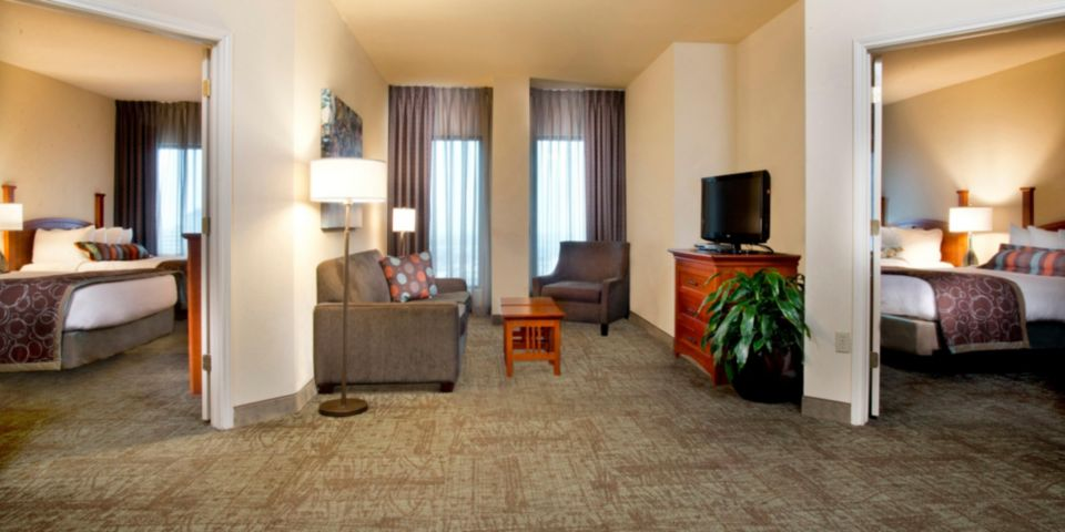 2 Bedroom Suite  2 Beds Each Room. Staybridge Suites New Orleans French Qtr Dwtn   Room Pictures