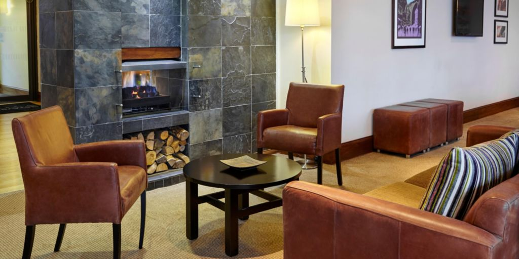 Hotel Lobby Fireplace At Staybridge Suites Newcastle Upon